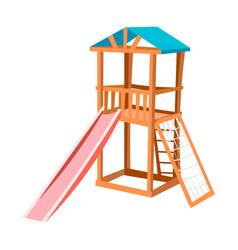 Children slide isolated vector