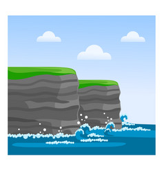 Cliffs of moher in county clare vector