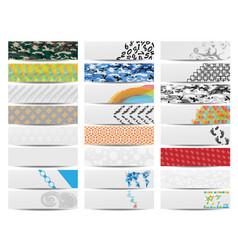 colorful banner set of twenty-four set 3 vector image