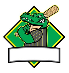 Crocodille baseball player vector