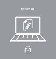 customized document project - flat icon vector image