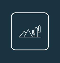 desert icon line symbol premium quality isolated vector image