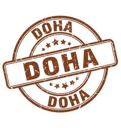 Doha stamp vector
