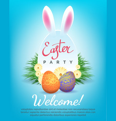 easter party invitation vector image