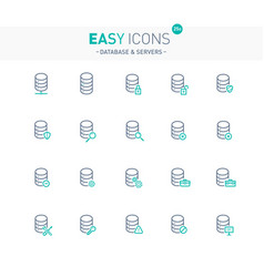 Easy icons 25e database vector