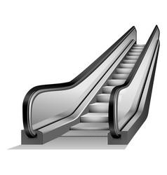 escalator elevator mockup realistic style vector image