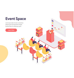 Event space concept isometric design concept vector