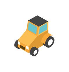 farm truck transport rural isometric icon vector image