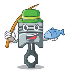 fishing piston isolated in the cartoon shape vector image
