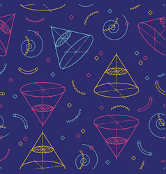 Geometric seamless pattern school patterns vector