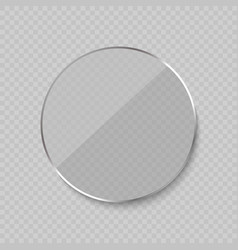 Glare glass frame vector