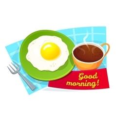 Good morning concept design vector image
