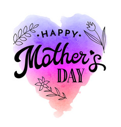 happy mothers day greeting card with flower vector image