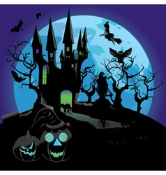 Haunted Halloween Castle vector