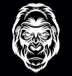 Head mascot gorilla isolated vector