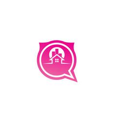 home symbol a big sun behind house logo vector image