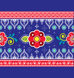 Indian and pakistani truck seamless pattern vector
