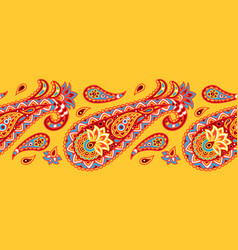 Indian ethnic seamless pattern with paisley vector