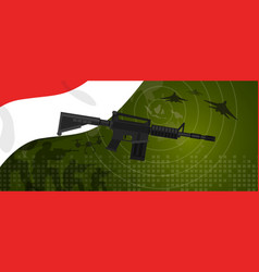 indonesia military power army defense industry war vector image