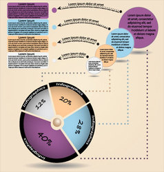 Info-graphic with diagram vector