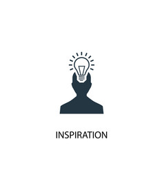 Inspiration icon simple element vector