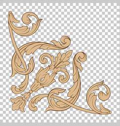 isolate corner ornament vector image