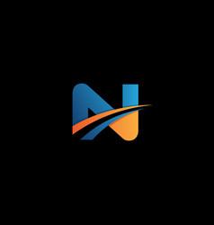 letter design concept n vector image