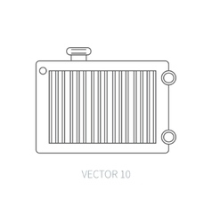 Line flat icon car repair part radiator vector