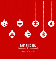 merry christmas greeting card merry christmas vector image