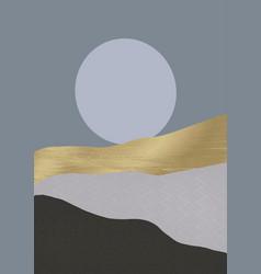 minimalistic japanese themed landscape background vector image