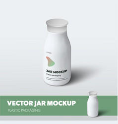 Mockup jar with screw cap for additives isolated vector