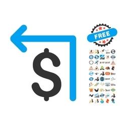 Moneyback Icon With 2017 Year Bonus Pictograms vector