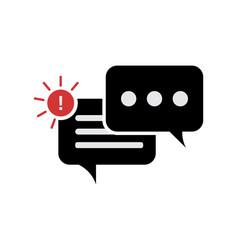 New message notification icon speech bubble vector