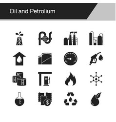 Oil and petrolium icons design for presentation vector