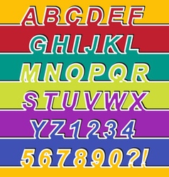 One Line Font vector image