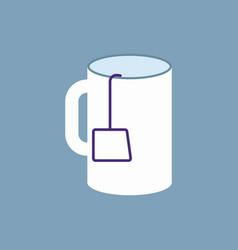 Outline cup tea icon vector