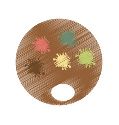 pallete paint isolated icon vector image vector image