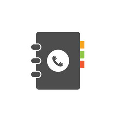 phone book icon design template isolated vector image