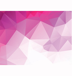 pink polygon background vector image