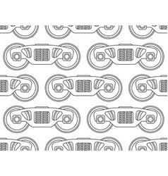 Railroad bogie pattern vector