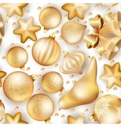 Seamless Christmas background EPS 10 vector image