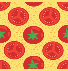 seamless pattern red tomatoes whole and vector image