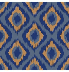 seamless pattern Tribal Art Ikat Ogee in vector image