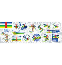 set national flag central african vector image