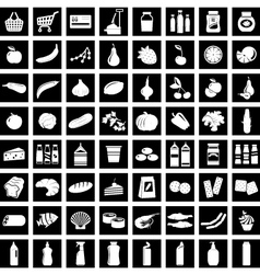 Set of supermarket symbols vector image