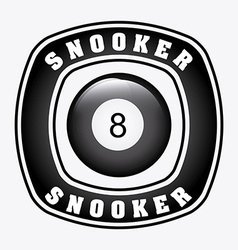 snooker design vector image