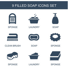 Soap icons vector