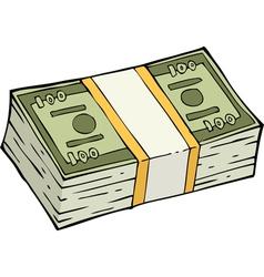 Stack banknotes vector