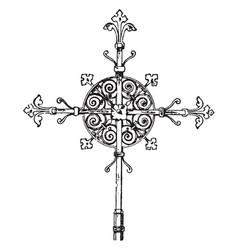 steeple cross vintage vector image