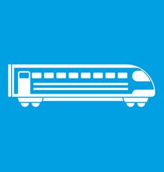 train icon white vector image